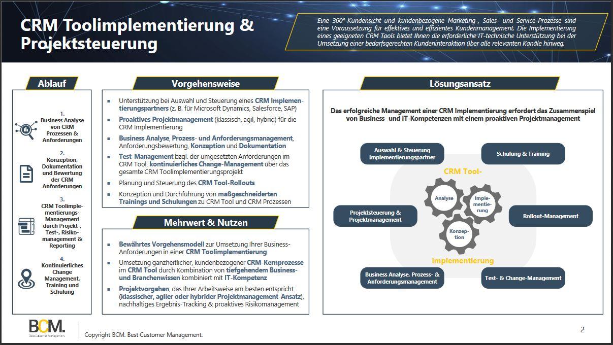 CRM Toolimplementierung & Projektsteuerung